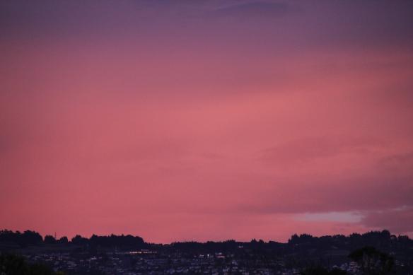Sunrise over Dunedin, New Zealand