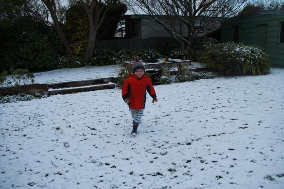 Snow, Dunedin, New Zealand