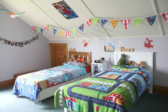 Shared boys' bedroom