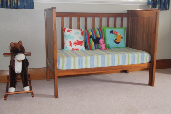 Cot becomes couch