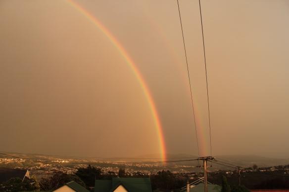 Double rainbow, Dunedin, NZ