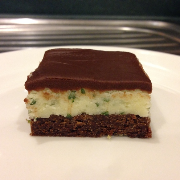 fresh mint & chocolate slice - chelsea winter