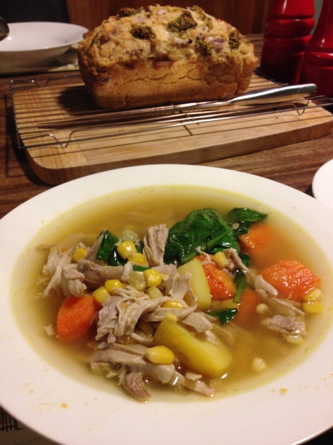 Chicken, Corn & Kumara Soup (Chelsea Winter)