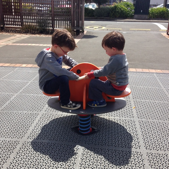 Boys playing