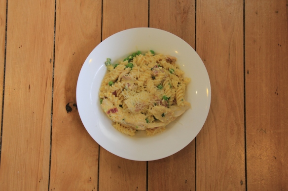 Lemony Chicken ans Bacon Carbonara